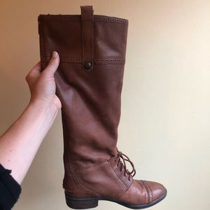 Sam Edelman brown leather boots size 7
